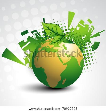 abstract earth vector design art - stock vector