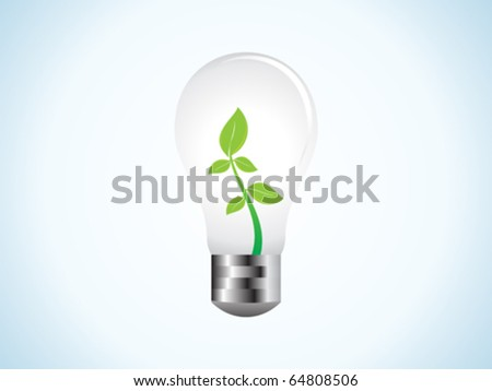 abstract eco bulb vector illustration - stock vector
