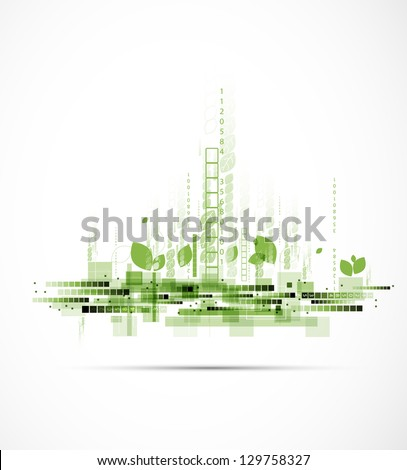 abstract eco futuristic high computer technology business background - stock vector