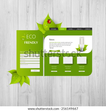 Abstract Eco website Eps 10 - stock vector