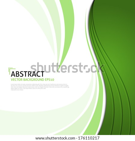 Abstract Ecology background - stock vector