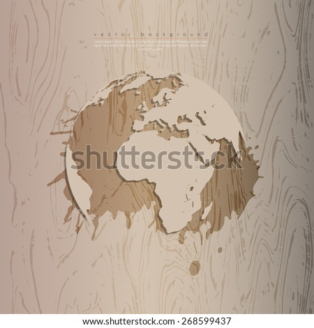 Abstract ecology business template. Vector illustration.  - stock vector