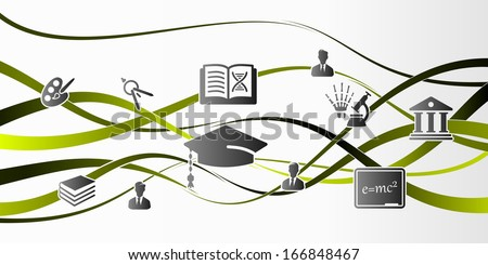 Abstract education background illustration - stock vector