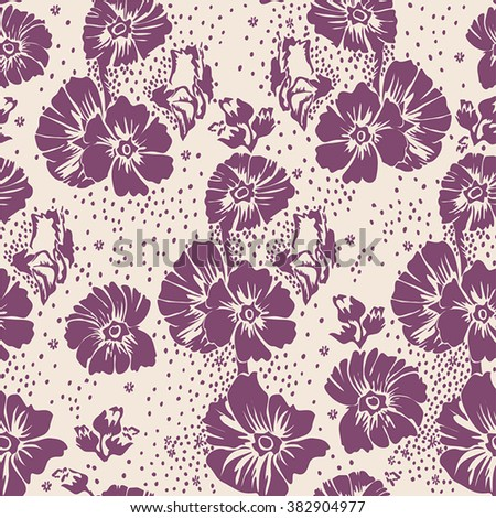 Abstract Elegance seamless floral pattern. Beautiful vector illustration texture - stock vector