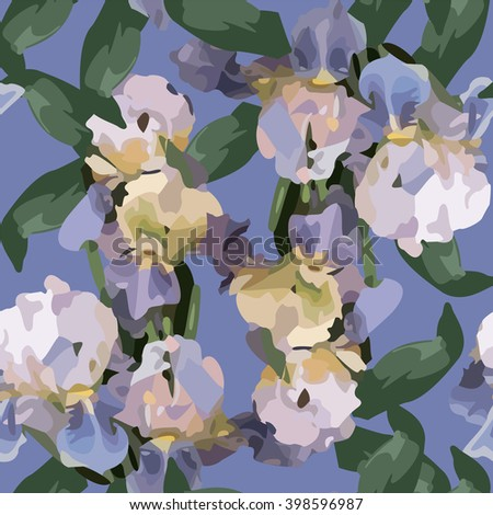 Abstract Elegance seamless floral pattern. Decorative Beautiful vector illustration texture. - stock vector