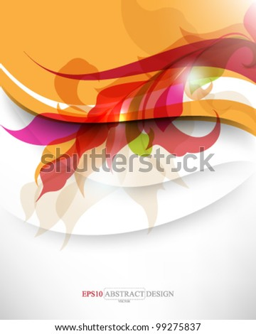 abstract elegant multicolor leaf foliage elements illustration. eps10 vector format - stock vector