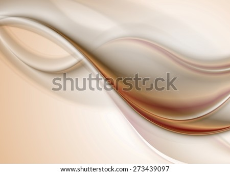 Abstract elegant smooth waves background. Vector design - stock vector