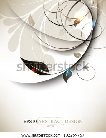 abstract elegant vintage leaf foliage elements illustration. eps10 vector format - stock vector
