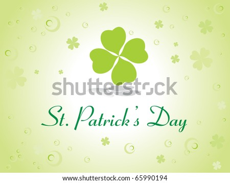abstract element background for happy st. patrick's day - stock vector