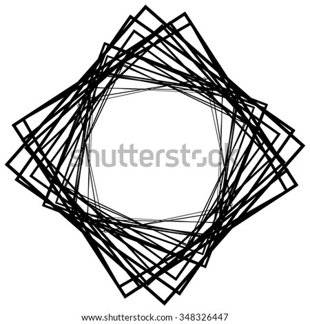 Abstract element, motif made of grayscale squares. Vector art. - stock vector