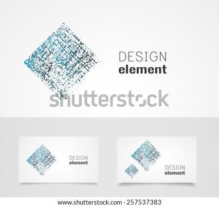 Abstract element vector logo design template - stock vector