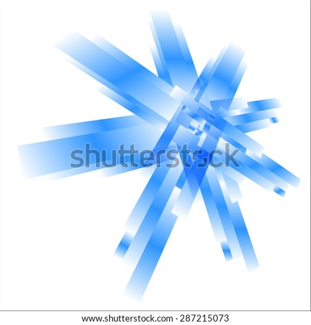 Abstract element with a gradient of white blue rectangles - stock vector