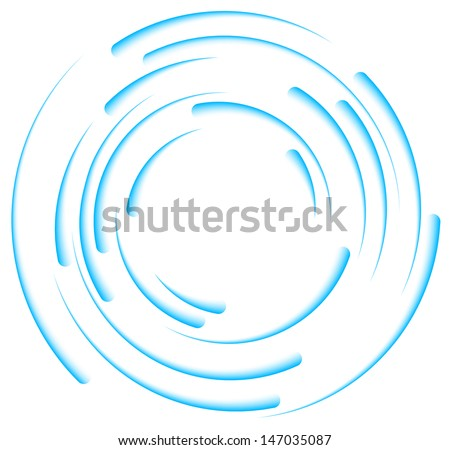 abstract elements of rotation - stock vector