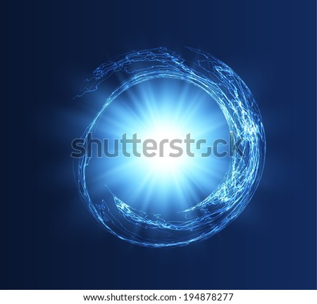 Abstract energy science background. Vector eps10. - stock vector