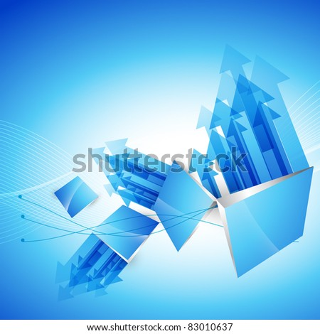 abstract eps10 vector arrow style background - stock vector