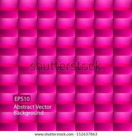 Abstract EPS10 weave style magenta background design - stock vector