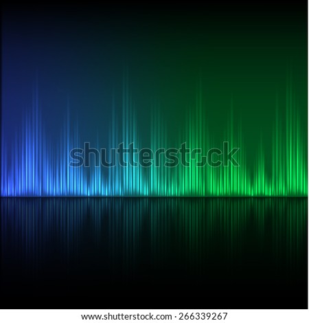 Abstract equalizer background. Blue-green wave. EPS10 vector. - stock vector