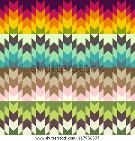 Abstract ethnic pattern - stock vector
