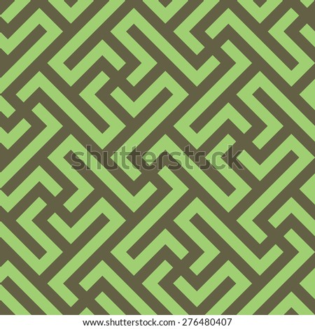 Abstract ethnic pattern. Seamless vector background. Monochrome geometric texture. - stock vector