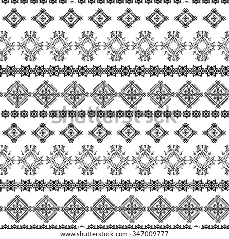 Abstract ethnic seamless pattern. Tribal art print. Background texture, wallpaper, wrapping - stock vector