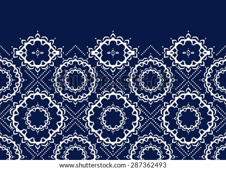 Abstract ethnic style geometric pattern design ideal for background or wallpaper - stock vector