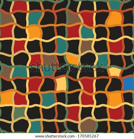 Abstract exotic seamless Pattern - stock vector