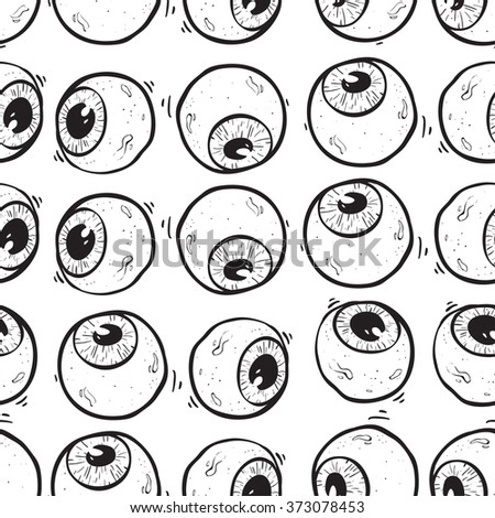 Abstract eye seamless pattern. Seamless eye on the withe background pattern. surrealism background. psychedelic background - stock vector