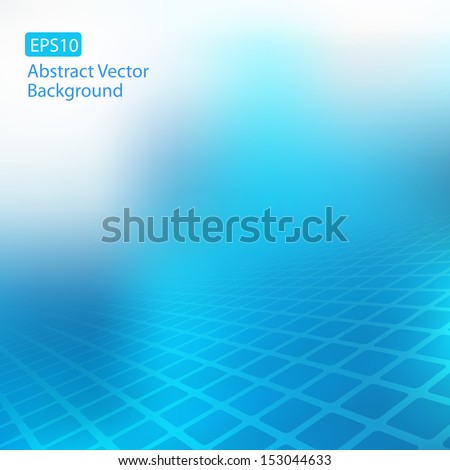 Abstract faded blue square design background EPS10 scalable template for various websites, artworks, graphics, cards, banners, ads and much more. Plenty of space for text.  - stock vector