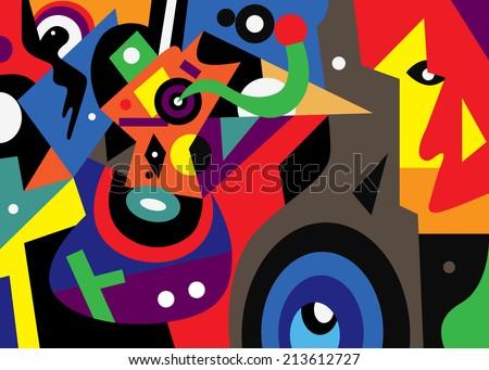 abstract fantastic illustration - stock vector