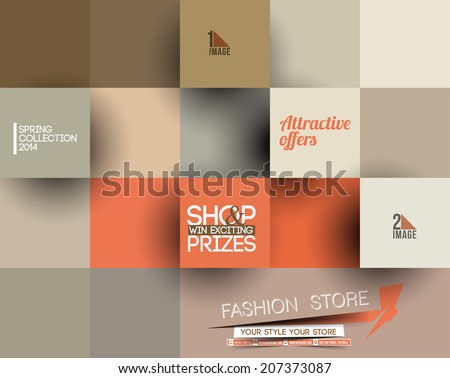 Abstract Fashion Poster Template For Advertising - stock vector