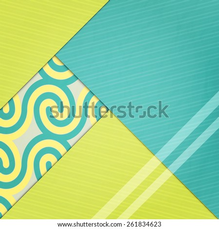 abstract fashion wallpaper with colorful paper pages. contemporary, geometric background design - stock vector
