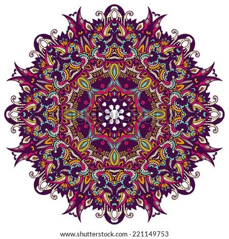 Abstract  Festive vintage tribal ethnic geometric  mandala background - stock vector