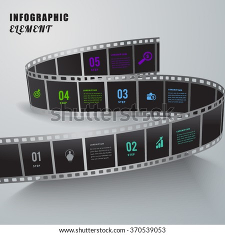 Abstract film creative infographic  element. - stock vector