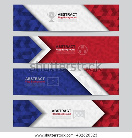 Abstract flag colour banner .Illustration eps10 - stock vector