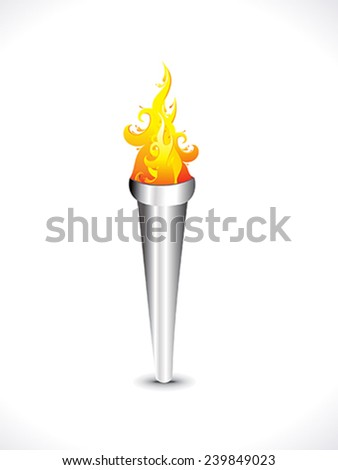 abstract flaming torch vector illustration - stock vector