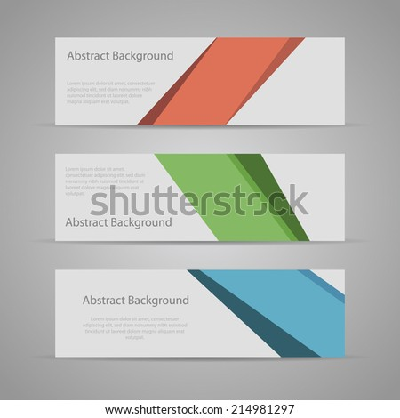 Abstract Flat Design Background banners. - stock vector