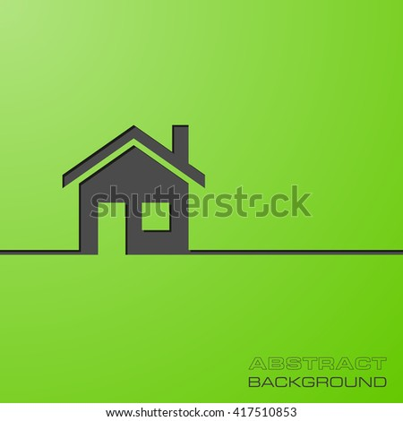 Abstract flat design concept with home illustration on background. Vector collection - stock vector