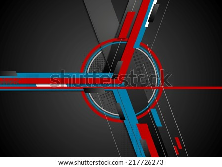 Abstract flat technical vector background - stock vector