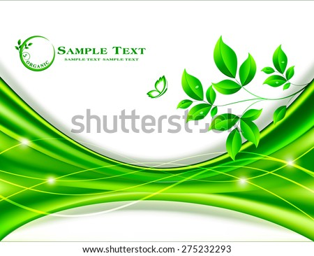 Abstract floral background design  - stock vector