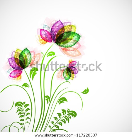 Abstract floral background. EPS 10. - stock vector