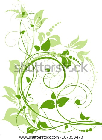 Abstract floral background for design. - stock vector