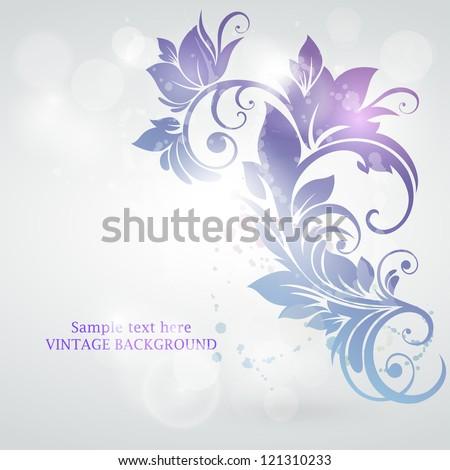 Abstract floral design. Vector illustration. Frozen swirl. - stock vector