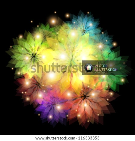 Abstract floral illustration. - stock vector