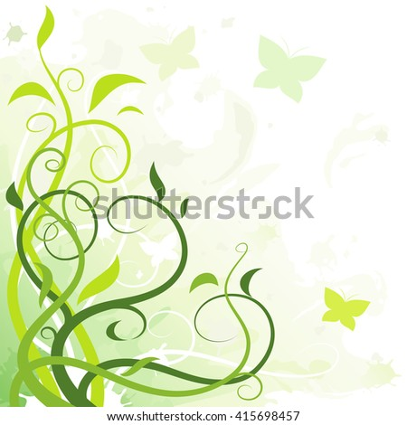 Abstract floral illustration - stock vector