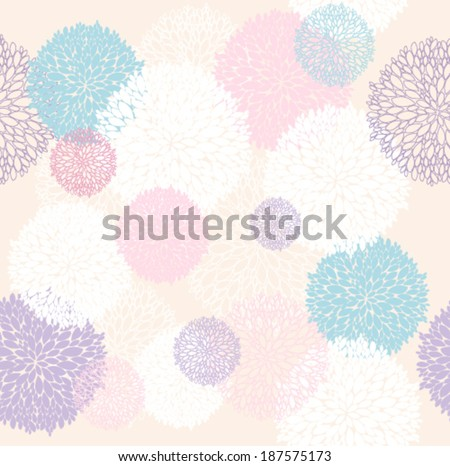 Abstract floral pattern. Seamless pattern with flowers. Floral background. - stock vector