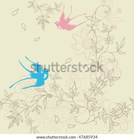 Abstract Floral SEAMLESS Pattern 8 - stock vector