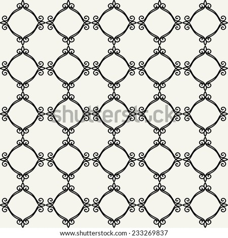 Abstract  floral  seamless pattern,  background. Seamless pattern can be used for wallpaper, pattern fills, web page background,surface textures. Gorgeous seamless  background - stock vector