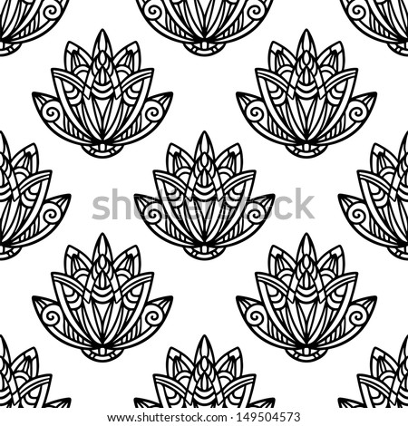 Abstract floral seamless pattern - vector - stock vector