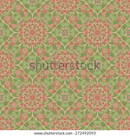 Abstract floral seamless pattern, vector illustration. - stock vector