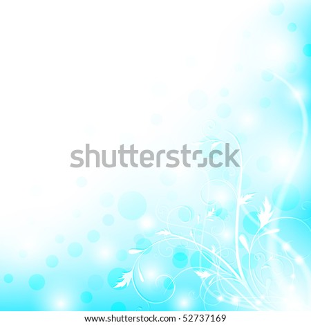 Abstract floral shiny background with copyspace, EPS10 - stock vector